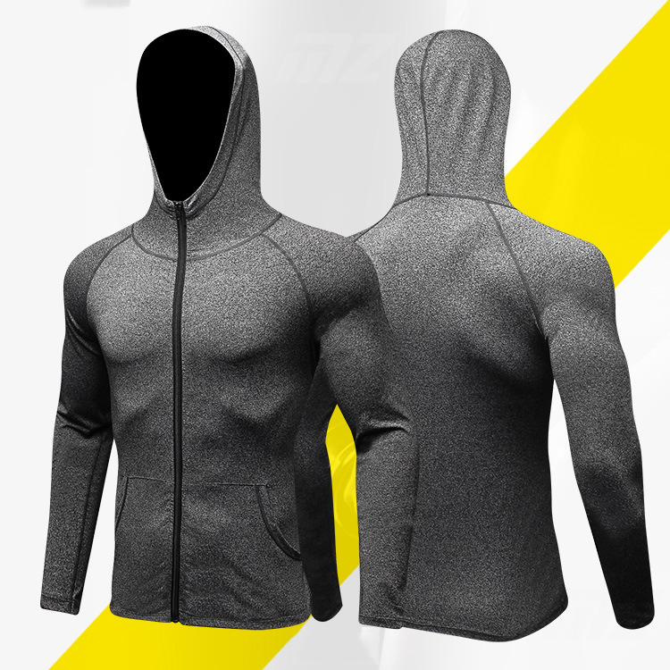OHYOUNG Running Jacket Men Breathable Quick drying Running Jersey Windproof Coat Outdoor Sports Hiking Run Hooded Clothes 2XL
