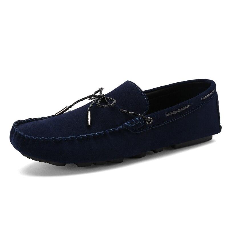 Marine Glissement Casual Homme Mocassins black Sur Bleu Pour En Cuir Sex3 Sapato Blue Suédé Mocassin Masculino Chaussures Chaussure Hommes nC0wqXz1X