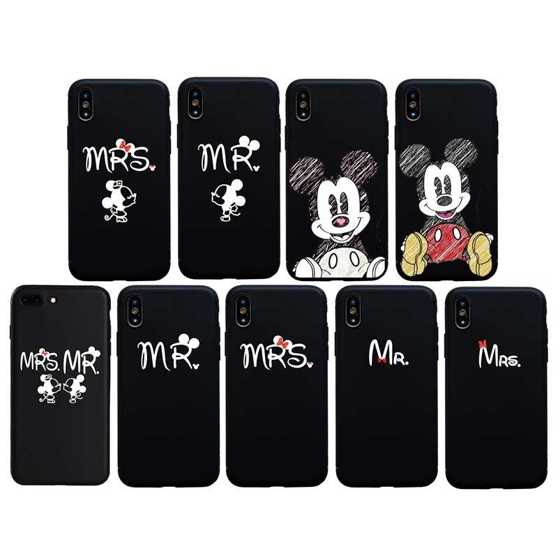 New Mrs Mr Kiss For Couples Case For iphone X XR XS Max Soft Coque ...