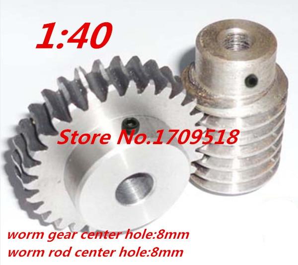 1 sets 1M40t 40 teeth steel worm gear reduction ratio:1:40
