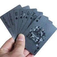3D-печать продвинутый черный пластиковые водонепроницаемый карты карты пластиковые - ромб карты игральные - Black Plastic Playing Cards