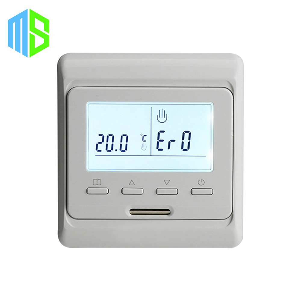 220V 16A LCD Screen Weekly Programmable Electric Digital Floor Heating Room Air Thermostat Warm Floor Temperature Controller valve radiator linkage controller weekly programmable room thermostat wifi app for gas boiler underfloor heating
