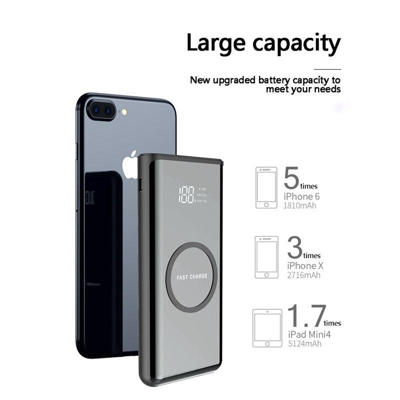 Großhandel preis Wireless charging Power Bank Externe Batterie 30000 mah Tragbare Mobile Backup Bank Ladegerät für Android iPhones