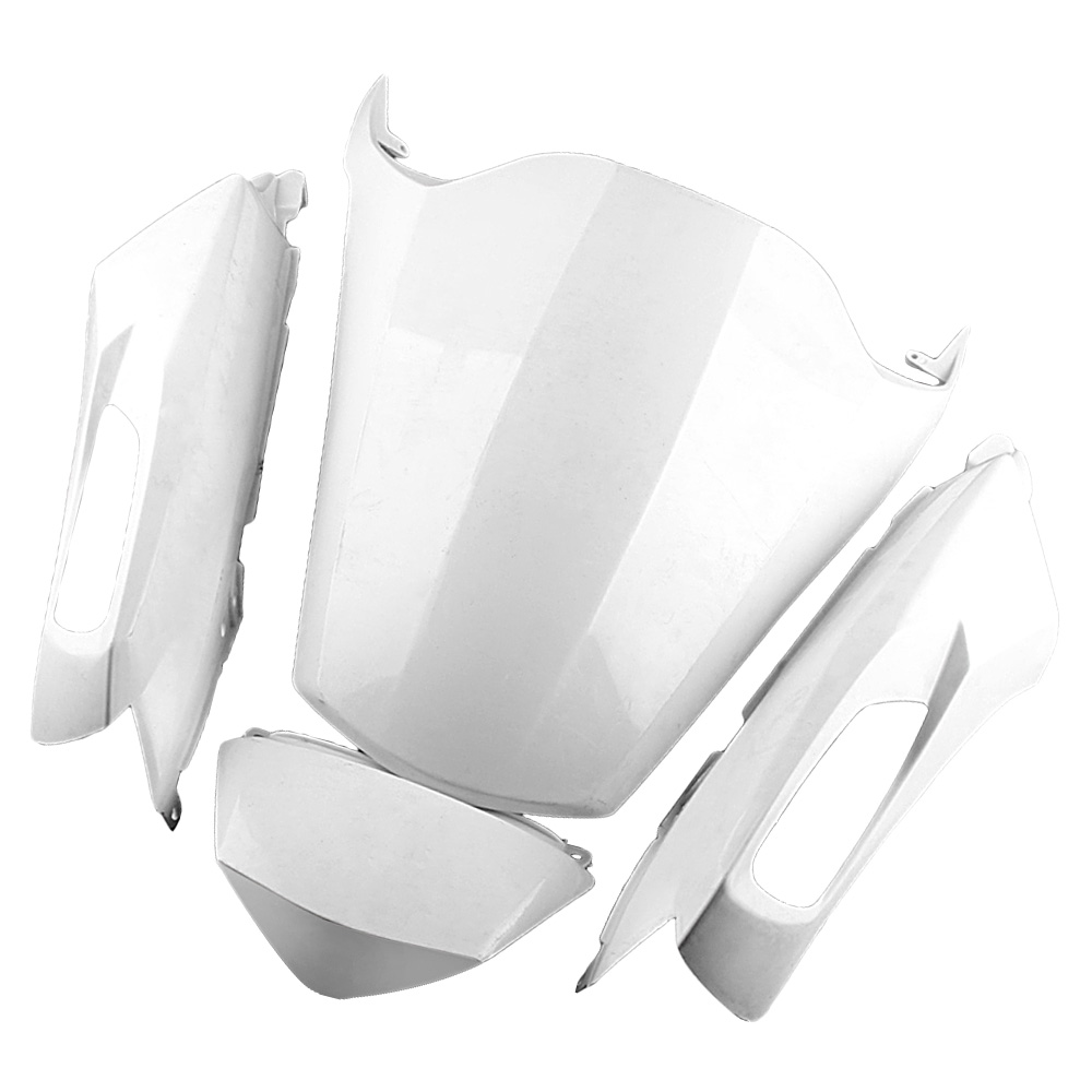 For Kawasaki Ninja ZX14R Tail Rear Fairing Cover Bodykit Bodywork 2012 Injection Mold ABS Plastic Unpainted White Motorbike Part plastic led light cover mold makers