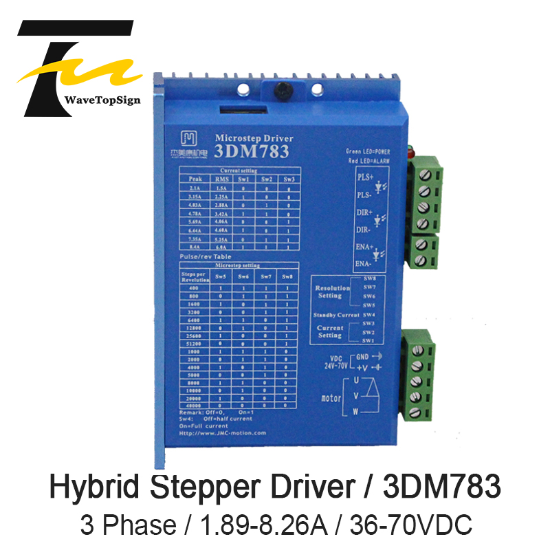 3 phase Digital Stepping Hybrid Driver 3DM783 1.89-8.26A With 57 86 Motor DC36V-70V3 phase Digital Stepping Hybrid Driver 3DM783 1.89-8.26A With 57 86 Motor DC36V-70V