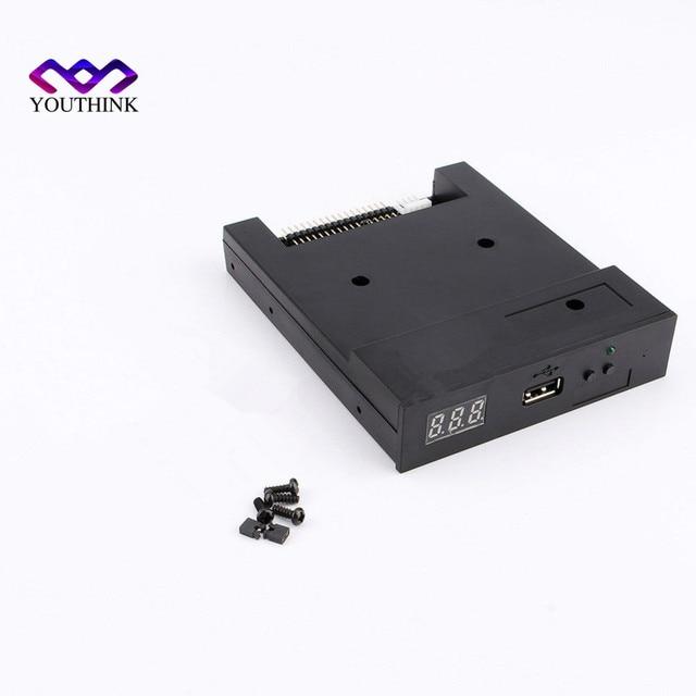 "Black SFR1M44-U100K 3.5"" 1000 Floppy Disk Drive to USB emulator Simulation For Musical Keyboad"