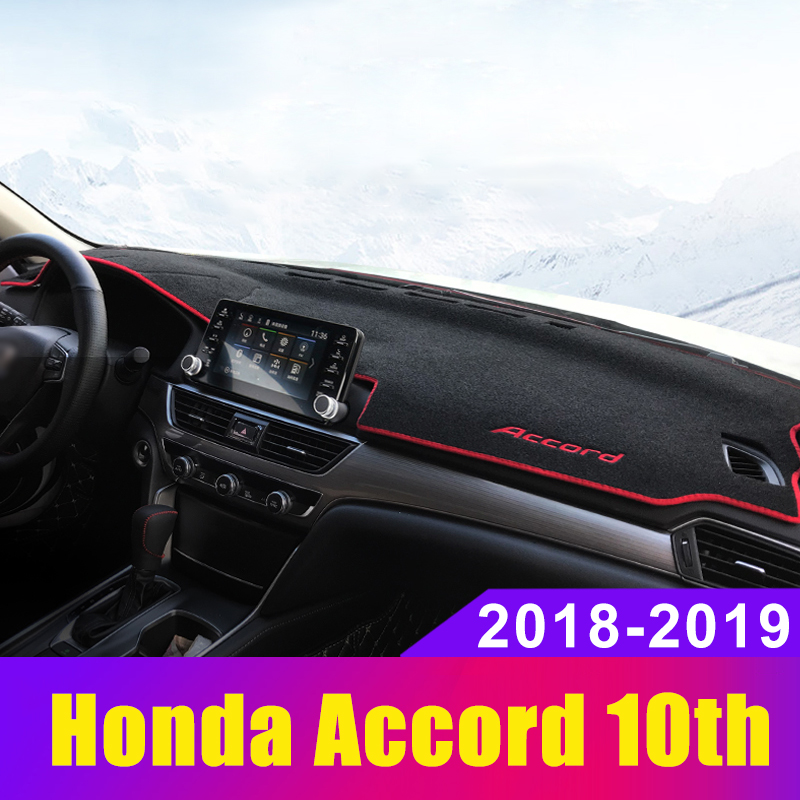 For <font><b>Honda</b></font> <font><b>Accord</b></font> 10th <font><b>2018</b></font> 2019 Car Dashboard Cover Dash Mat Instrument Platform Desk Carpets Trim Cushion Protector <font><b>Accessories</b></font> image