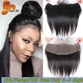 Cheap 13x4 Brazilian Lace Frontal Closure Straight Ear To Ear Lace Frontals With Baby Hair Human Hair Full Frontal Lace Closure