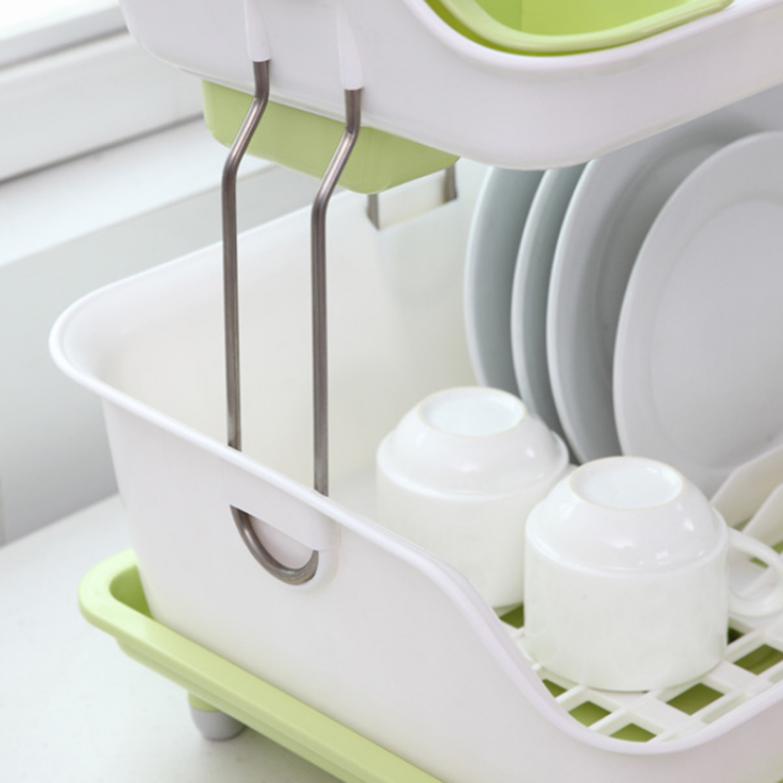 HIPSTEEN Fashionable Double deck Plastic Kitchen Cupboard Chopsticks ...