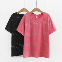 Oversize Plus Size Cotton O Neck red T Shirt Women Short Sleeve Tshirt 2019 t shirt Summer Top