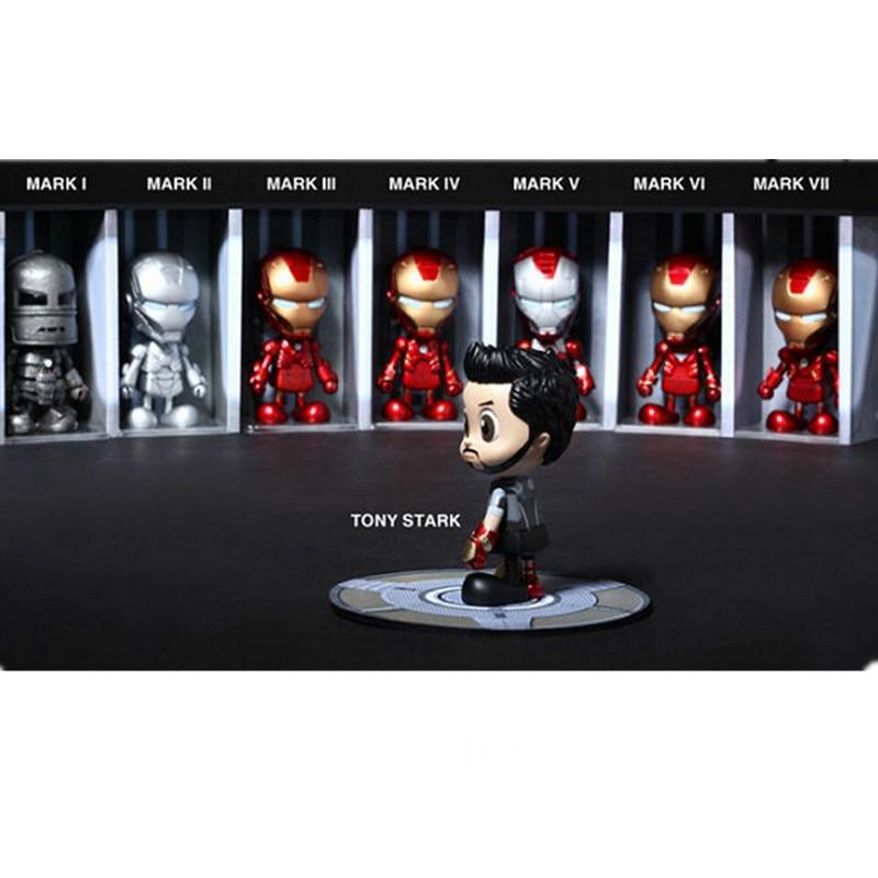 Avengers:Infinity War SUPER HERO Universe Robert Downey Jr Iron Man 3 MK1-7 Tony Stark All Eight Box EGG Action Figure Doll G49 infinity kids 32134510002