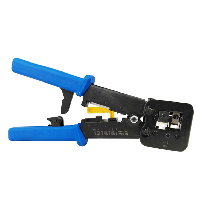 Tools RJ11 EZ RJ45 Pliers crimper Crimping Cable Stripper pressing line clamp pliers tongs for network EZrj45 connectors the 5 7 9 extrusion clamp rg6 rg11 pressing line clamp cable f head special tools
