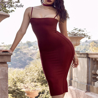 Leger Babe 2018 Women Dresses Bodycon Bandage Dress Sexy Spaghetti Strap Cocktail Party Nightclub Dresses Choker Neck Vestidos