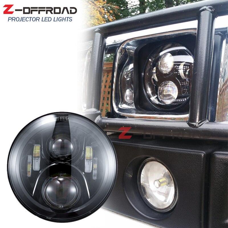 """For Land Rover Defender 7"""" Black LED H4 Projector"""