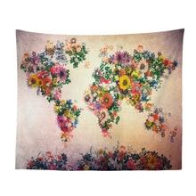 World Map Geometric Irregular Hippie Mandala Pattern Tapestry Abstract Painting Art Wall Hanging Gobelin Livingroom Decor Crafts все цены