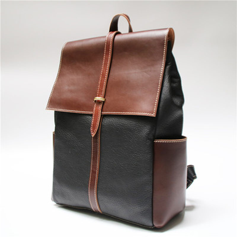 AETOO Original Patchwork the first layer of leather men and women imports shoulder bag leather vintage cowhide backpack worship the elder brother of the men and women athletic shoes head layer cowhide beef tendon counters authentic 6