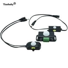 Tanbaby DC12 24V Body Infrared PIR Motion Sensor Switch Time Adjustable Controller