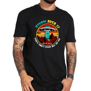 Storm Area 51 T shirt They Can't Stop All Of Us UFO Take People Away Alien Soft Fitness T-shirt EU Size(China)