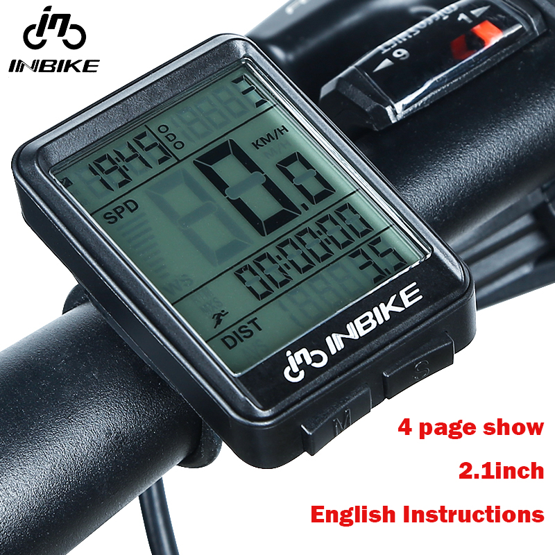 INBIKE Waterproof Auto Bike Computer Light Mode Touch Wireless Bicycle Computer Cycling Speedometer Stopwatch with Led Backlight english waterproof auto bike computer light mode wired bicycle accessories computer speedometer lcd backlight bicycle stem