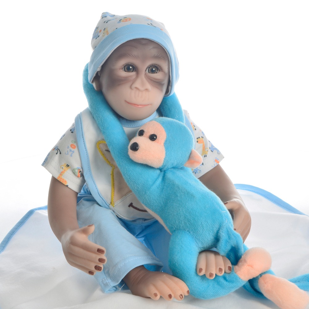 1946cm Macaco reborn dolls lifelike Apes monkey silicone doll toys soft cotton body children gift toy boneca collectible doll1946cm Macaco reborn dolls lifelike Apes monkey silicone doll toys soft cotton body children gift toy boneca collectible doll