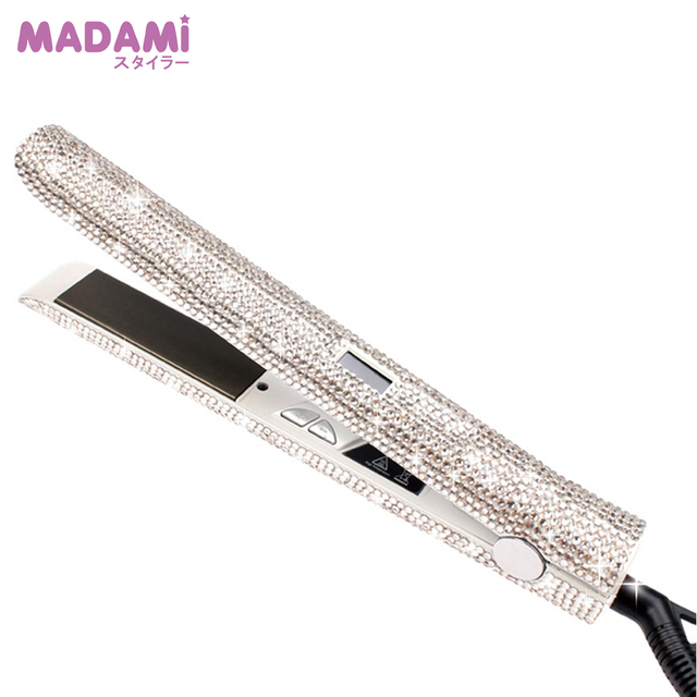 Rose Gold Bling Lcd Digital Display Flat Iron Hand Made