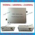 Высокое Качество Трехдиапазонный Мобильный Телефон Siganl Усилитель 3 Г 900 1800 2100 GSM Репитер с ALC/MGC Сотовый Телефон сигнал Повторителя Booster