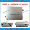 Alta Calidad Teléfono Móvil Tribanda Siganl Repetidor Amplificador 3G 900 1800 2100G/M² con ALC/MGC Teléfono Celular Repetidor de señal de Refuerzo