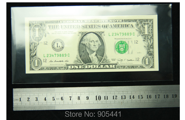 Large US Currency Banknote Sleeves Safety Vinyl Frame A Coin Quality 100 Holders