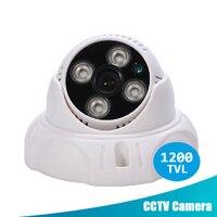 Security Camera HD 1200TVL CMOS 4 Array IR LED Color Night Vision Surveillance Dome CCTV Camera