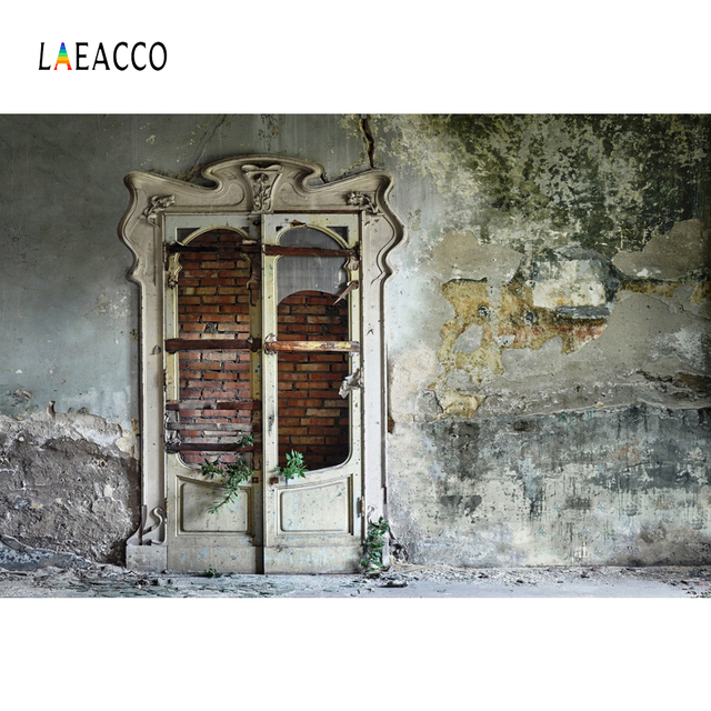 Photography Backdrops Old Rural Deserted House Wall Wooden Door Party Baby Portrait Interior Photo Background Photo Studio