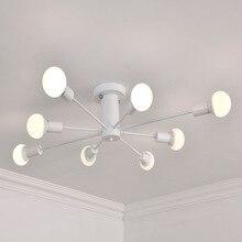 거실 침실 LED 천장 아래로 빛 E26 E27 에디슨 전구 표면 천장 마운트 조명