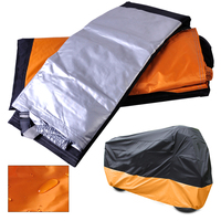 CITALL XXXL Motorcycle Indoor Outdoor Waterproof Cover UV Protector fit for Harley Touring Honda Goldwing