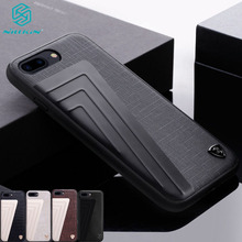 For iphone 7 7+ Plus Leather Case Nillkin Hybrid Case Luxury Leather TPU PC Aluminium Alloy Phone Back Cover For iPhone 7 Plus