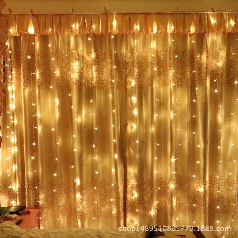3.3M 300leds Christmas string lights flashing lights curtain lights waterproof stars ourdoor holiday light