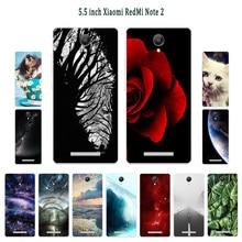 Чехлы для Xiaomi Redmi Note 2 Мягкая силиконовая задняя крышка для телефона Redmi Note2 Спящая окрашенная Черная оболочка для Hongmi Note2