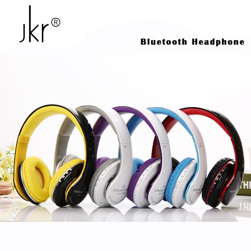 JKR Hifi Big Casque Audio Auricular Cordless Wireless Blutooth Headphones Bluetooth Earphone For Phone Headset Player With Mic