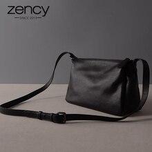 Zency 100% Couro Genuíno Natural Real Do Couro Novo Projeto Mulheres Messenger Bag Pele Macia Super Qualidade Ladies Aba Ombro