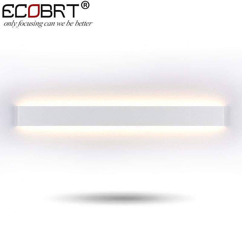 Modern Style Bedroom Wall lamps 30W 91cm Long White / Black Color Led Restroom Bathroom Wall Lights Decoration Lighting 100 240V