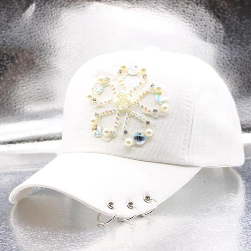 HANGYUNXUANHAO New Fashion Cotton Diamond Baseball Cap Snapaback Hat For Women Solid Adult Casual Girls Adjustable Sun Cap in Men 39 s Baseball Caps from Apparel Accessories