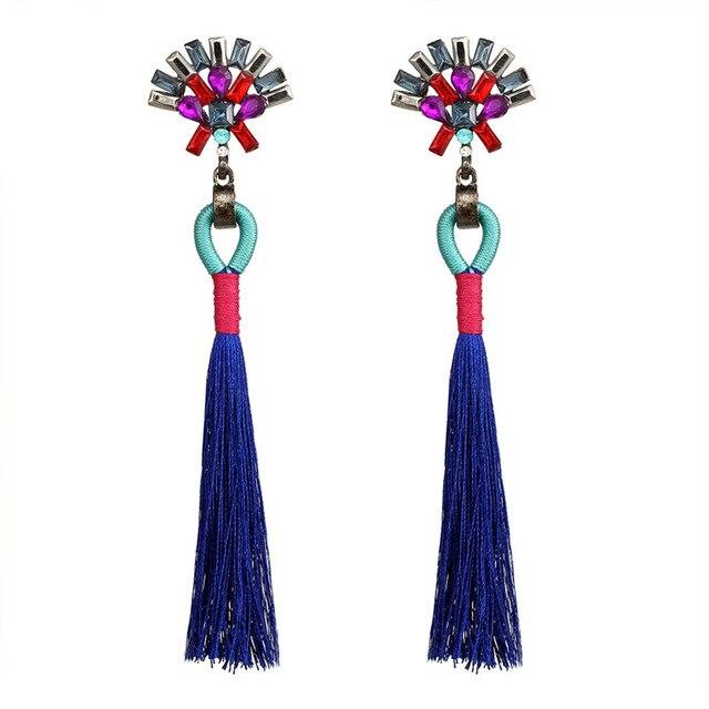 Женские серьги с кисточками janeyacy популярные длинные цветными