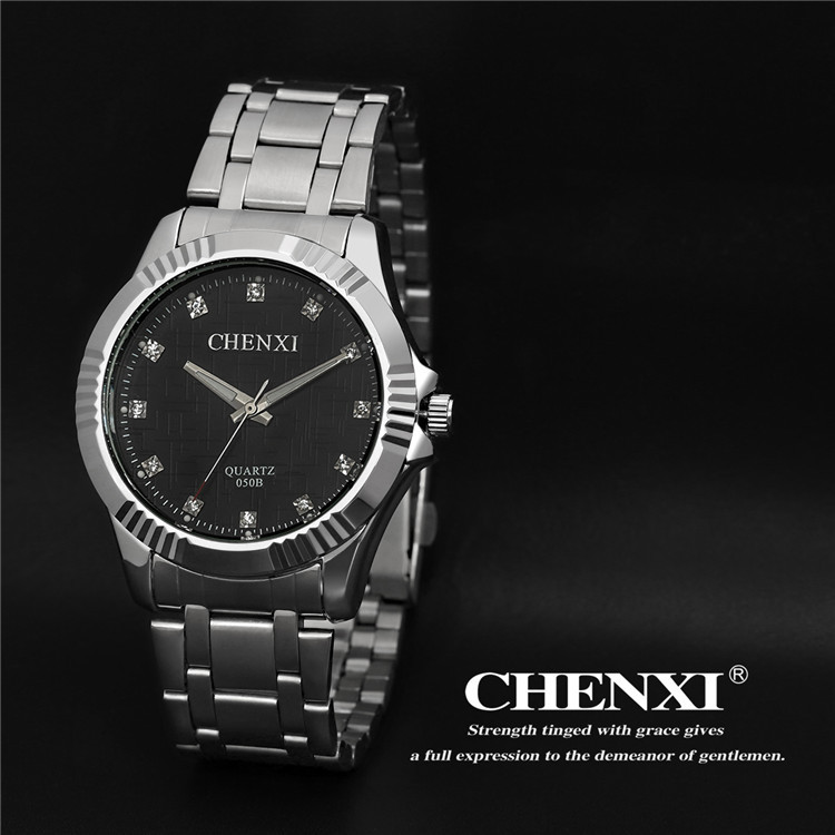Top Brand Luxury CHENXI Crystal Watches Men Watch Business Dress Quartz Wristwatch Waterproof Male Relogio Masculino 050B
