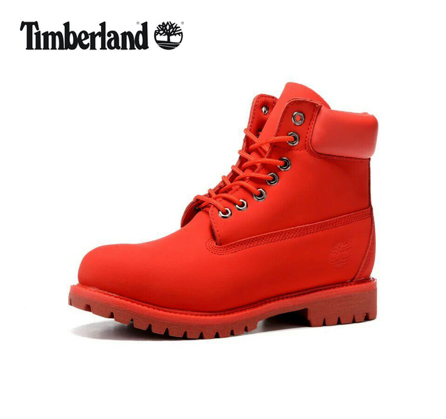 TIMBERLAND Women Bright All Red Showy Martin Ankle Boots,Woman Female  Leather Outdoor Military Leisure Work Casual Shoes 36-40 03d5d6e884c
