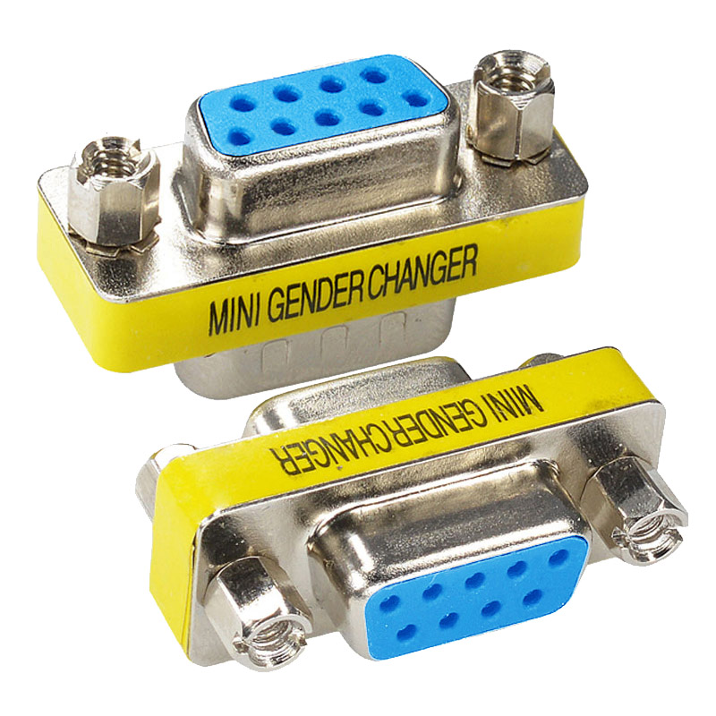 New RS232 9 Pin Female / Female Gender Changer Adapter DB9 Serial M-F Extender Connector Converter Coupler DJA99 new 1 5m serial rs232 9 pin male to female db9 9 pin pc converter extension cable