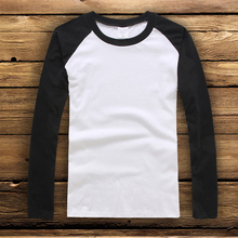 Spring Autumn Raglan Long Sleeve Women's T-shirt Simple Design Tee Shirt Femme Contrst Color Modal Basic Graphic Girls T shirts two tone raglan sleeve tee
