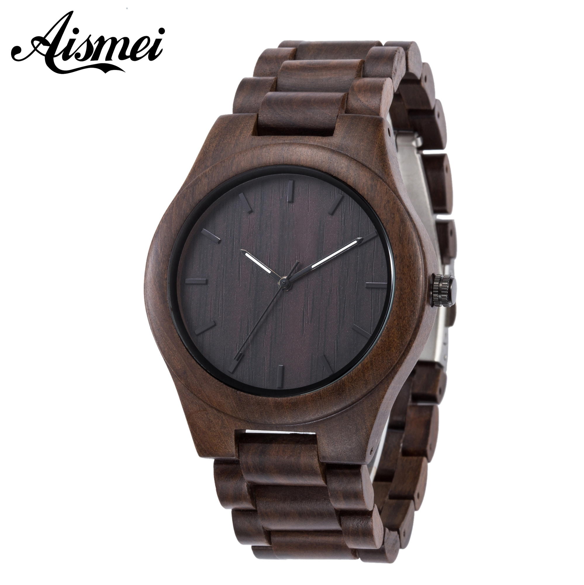Подробнее о 2017 Aismei Hot Sell Men Dress Watch Quartz Mens Wooden Watch Wood Wrist Watches Natural quartz-watch Gift relogio masculino hot sell men dress watch wooden watches japan quartz digital movement natural wood watch new design free shipping wholesale