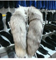 Free shipping Joker fashion warm tail fox scarf The fox fur scarf collar Haining leather supplies wholesale