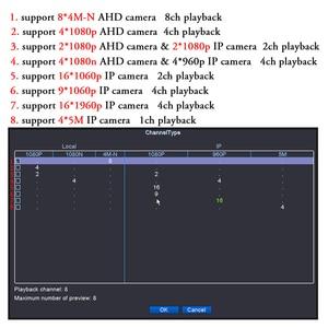 Image 5 - OUERTECH AHD CVI TVI IP CVBS 5 in1 4CH/8CH/16CH 4 Megapixels 4M N DVR 4CH RCA Audio IN Support 1 SATA HDD Surveillance CCTV DVR