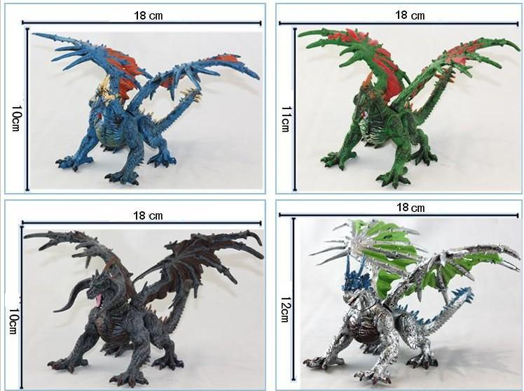 1pcs DIY tiamat <font><b>toy</b></font> dragons with wings classic <font><b>toys</b></font> for boys <font><b>dinosaur</b></font> <font><b>action</b></font> <font><b>figures</b></font> without retail box