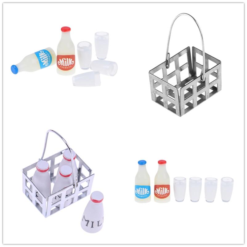 3pcs 1:12 miniature milk bottles breakfast drink dollhouse kitchen accessoNWUS