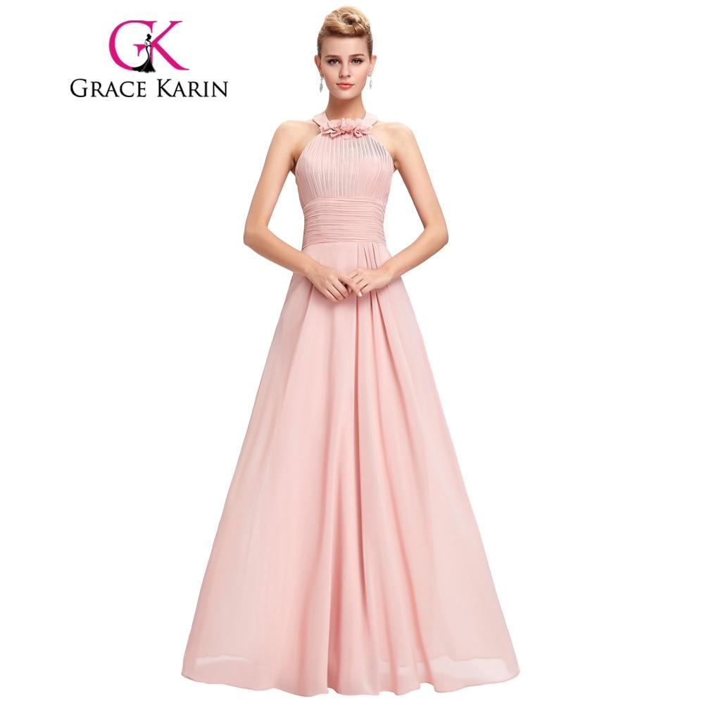 Backless prom dress lange 2017 grace karin halter plissee taille ...